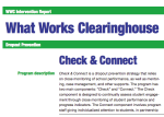 The What Works Clearinghouse report on Check & Connect
