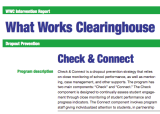 Evidence-Based Interventions in Education (Part II): A Tour of Check & Connect's What Works Clearinghouse Report