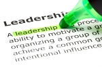 Definition of leadership highlighted in green ink