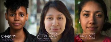 Photo of 3 Latino women featured in Los Graduados