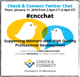 Supporting Mentors with High-Quality Professional Development: Join us for a C&C TwitterChat!